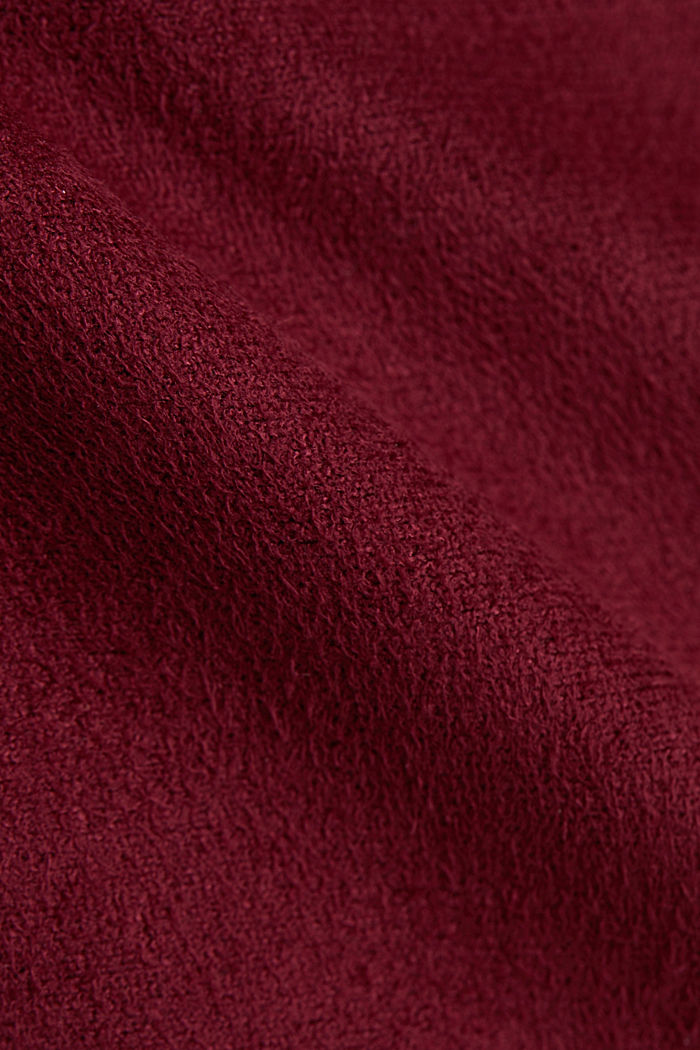 Recycled: mini skirt made of suede , BORDEAUX RED, detail image number 4