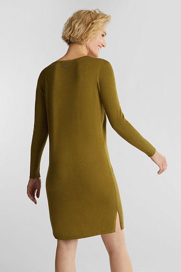 Basic knit dress made of organic cotton, OLIVE, detail image number 2