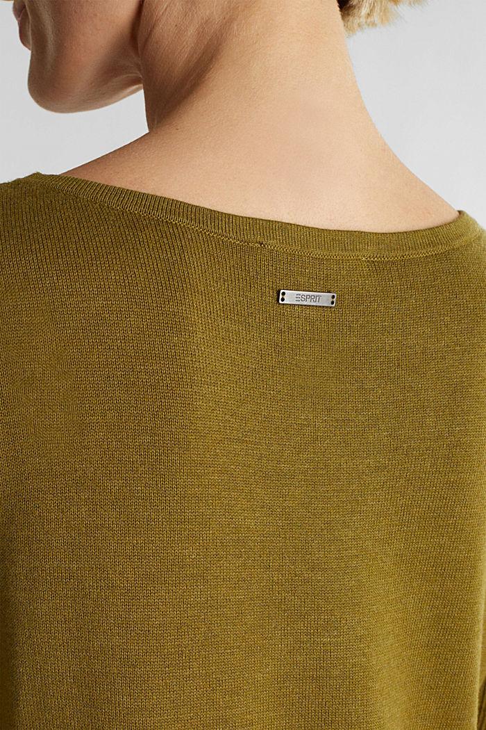 Basic knit dress made of organic cotton, OLIVE, detail image number 3