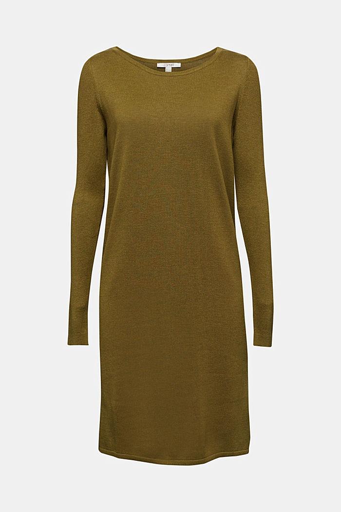 Basic knit dress made of organic cotton, OLIVE, detail image number 6