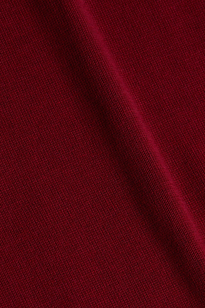 Basic knit dress made of organic cotton, BORDEAUX RED, detail image number 4