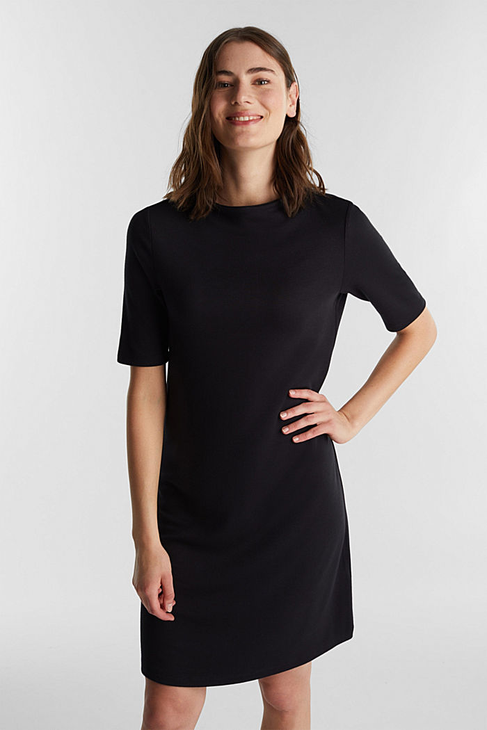Jersey-Kleid mit Stretchkomfort, BLACK, detail image number 0
