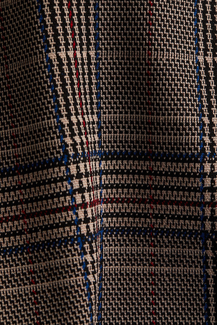 Jersey dress with a Prince of Wales check pattern, CAMEL, detail image number 4