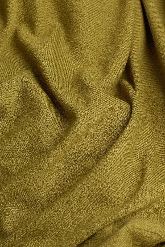 Jersey-Kleid mit Schnür-Details, OLIVE, detail image number 4