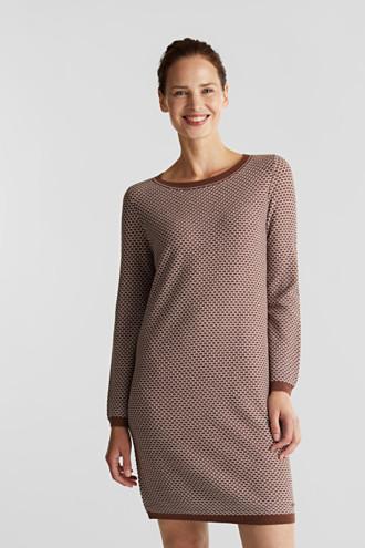 Jacquard knitted dress