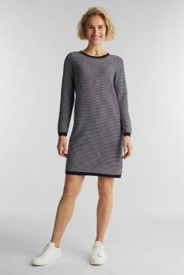 Jacquard knitted dress, NAVY 4, detail