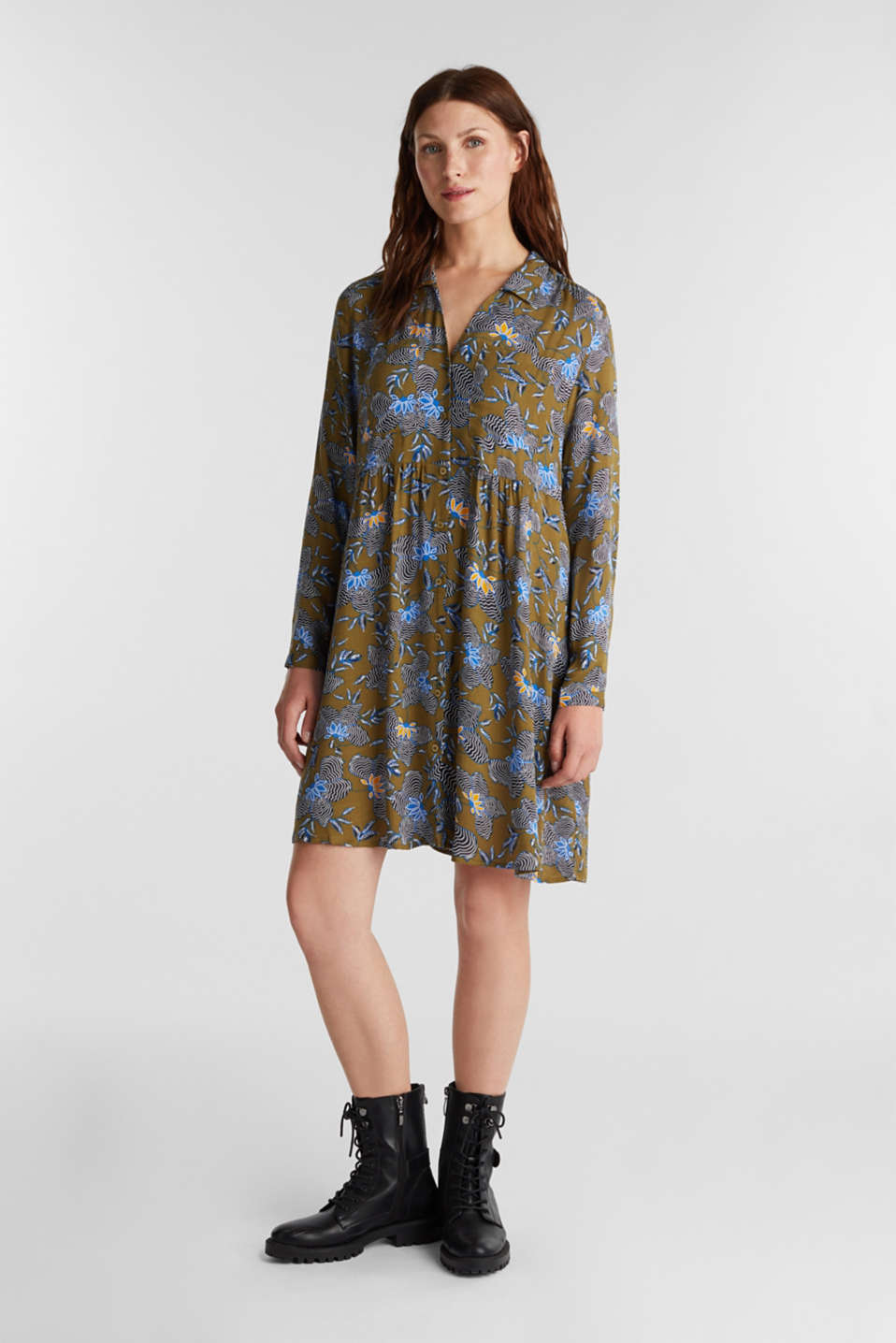 Esprit - Shirt dress made of LENZING™ ECOVERO™