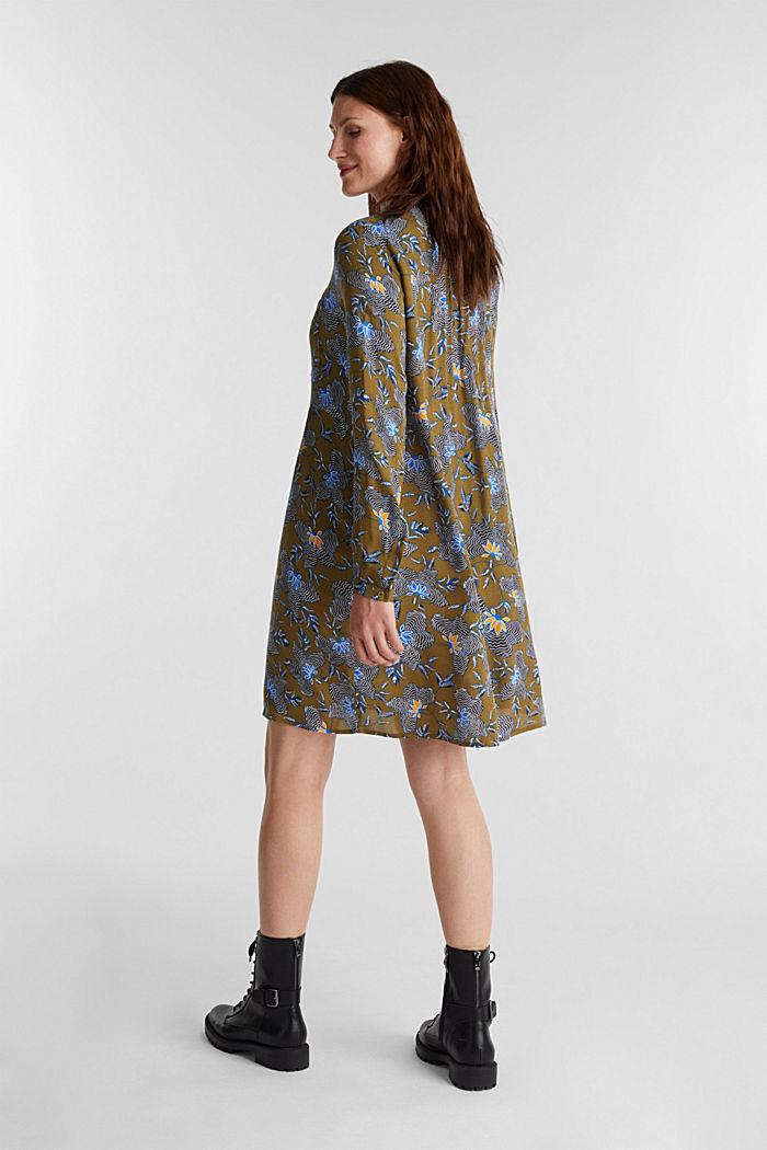 Blusenkleid aus LENZING™ ECOVERO™, OLIVE, detail image number 2