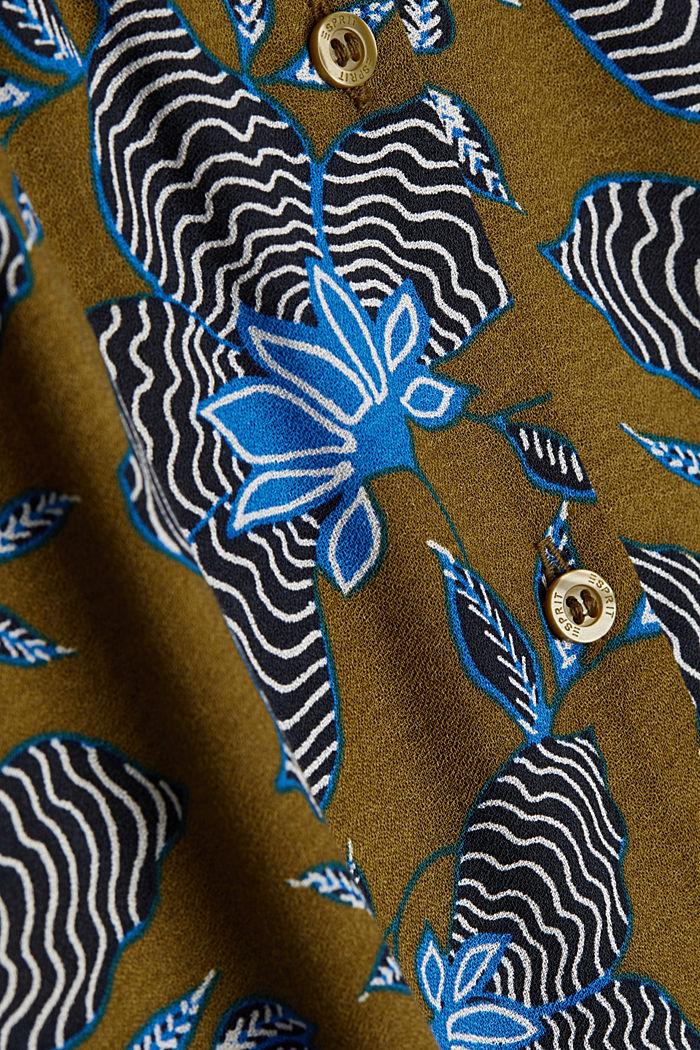 Blusenkleid aus LENZING™ ECOVERO™, OLIVE, detail image number 4