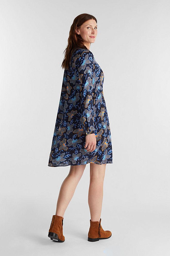 Blusenkleid aus LENZING™ ECOVERO™, NAVY, detail image number 2