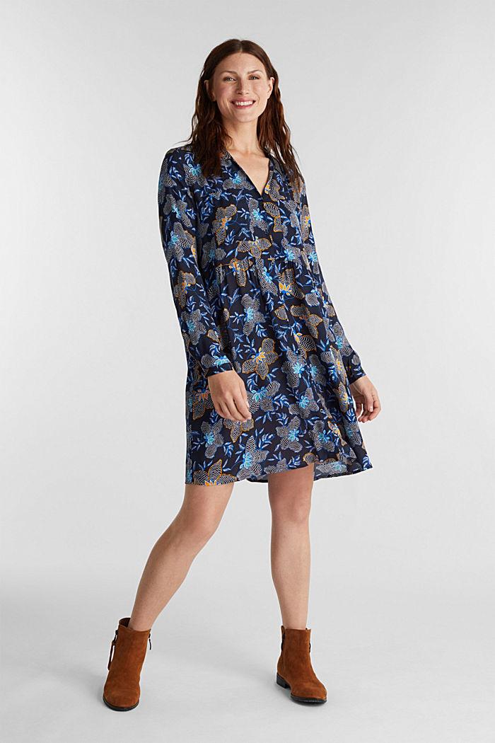 Blusenkleid aus LENZING™ ECOVERO™, NAVY, detail image number 1
