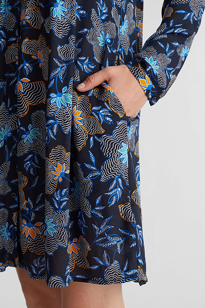 Blusenkleid aus LENZING™ ECOVERO™, NAVY, detail image number 5