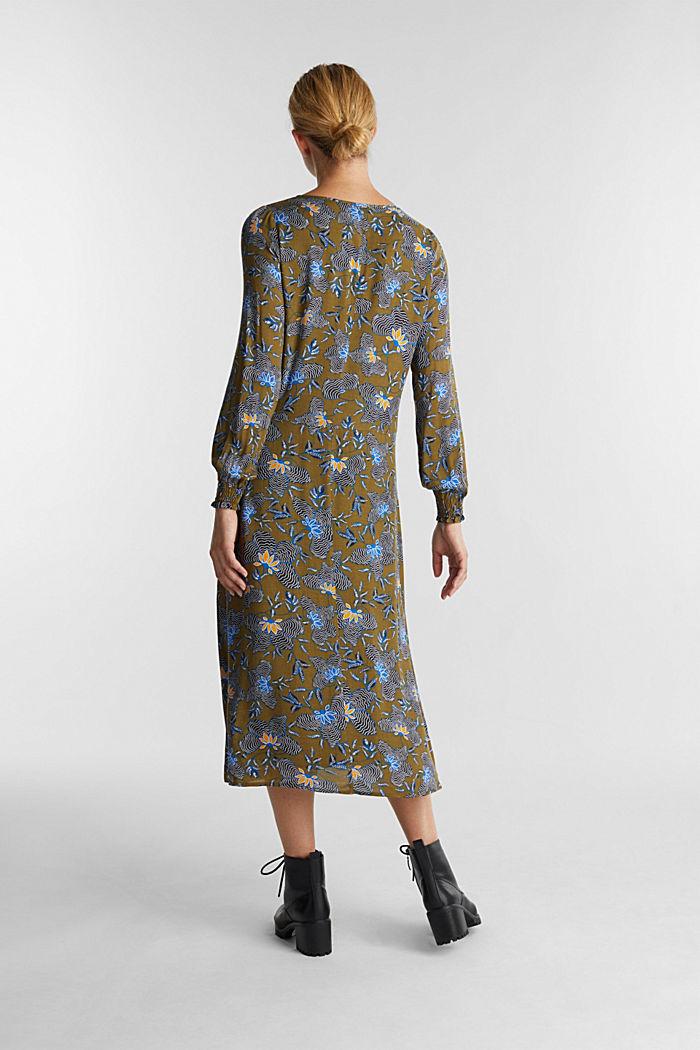 Crêpe-Kleid aus LENZING™ ECOVERO™, OLIVE, detail image number 2