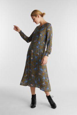 Crêpe dress made of LENZING™ ECOVERO™, OLIVE 4, detail