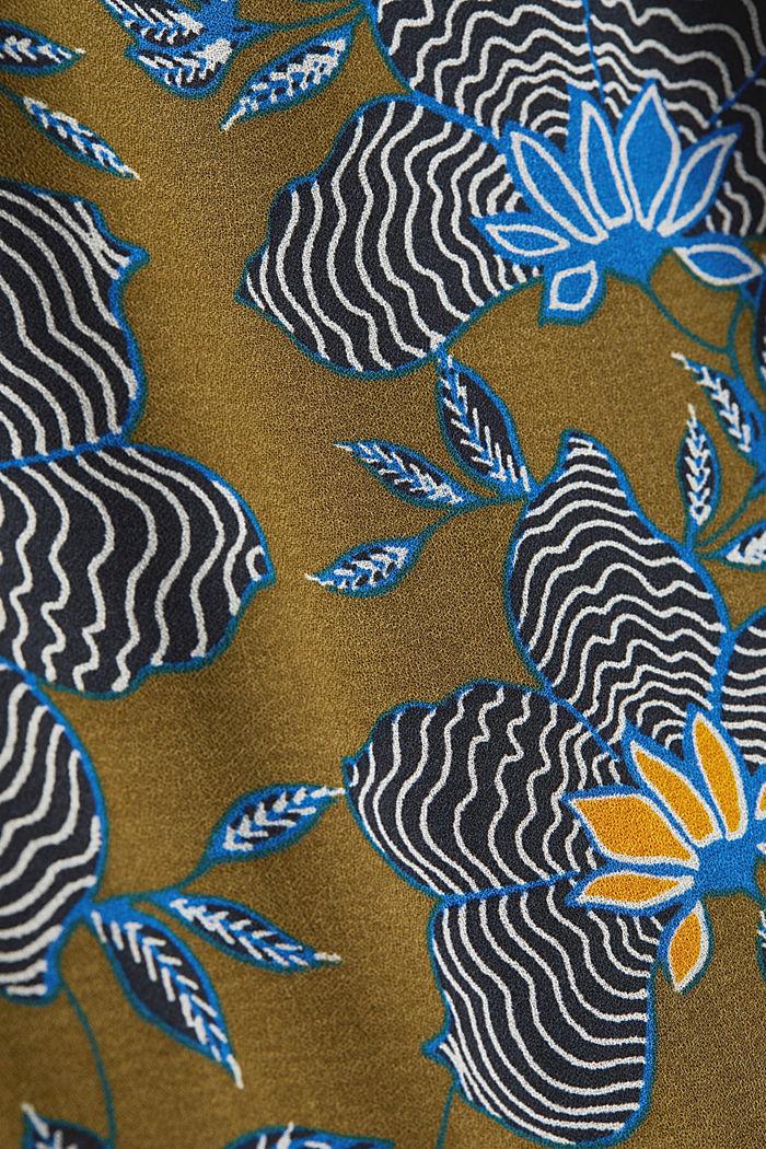 Crêpe-Kleid aus LENZING™ ECOVERO™, OLIVE, detail image number 4