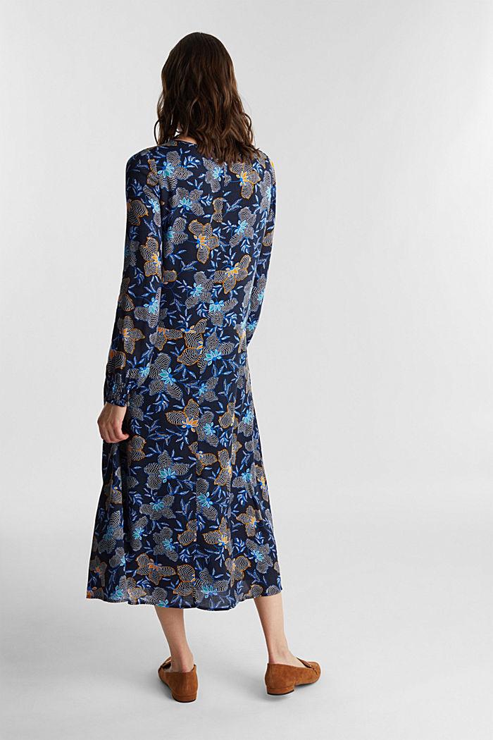 Crêpe dress made of LENZING™ ECOVERO™, NAVY, detail image number 2