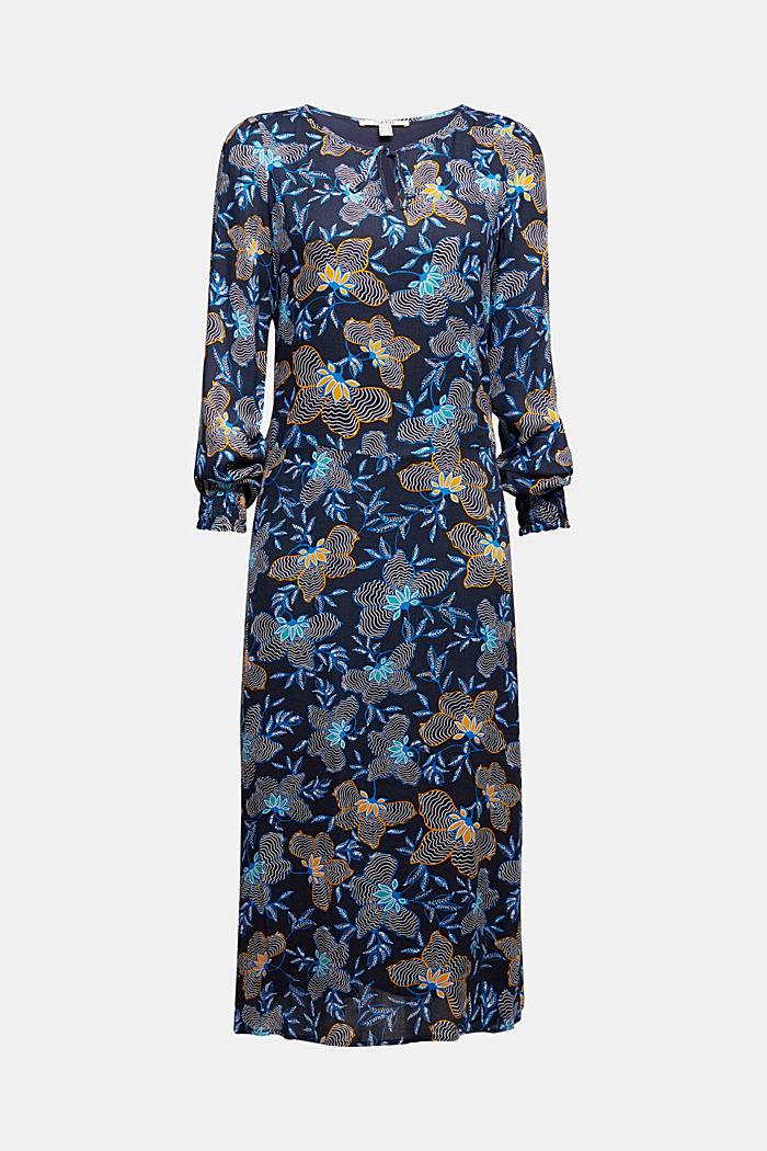 Crêpe dress made of LENZING™ ECOVERO™, NAVY, detail image number 5