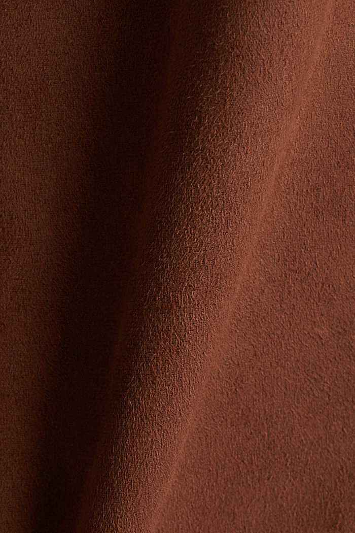 Shirt dress in faux suede, BROWN, detail image number 4