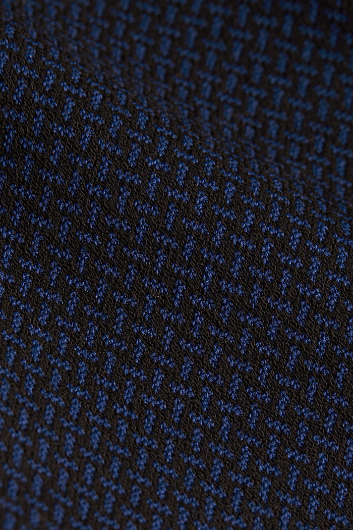 Patterned jersey dress, DARK BLUE, detail image number 4
