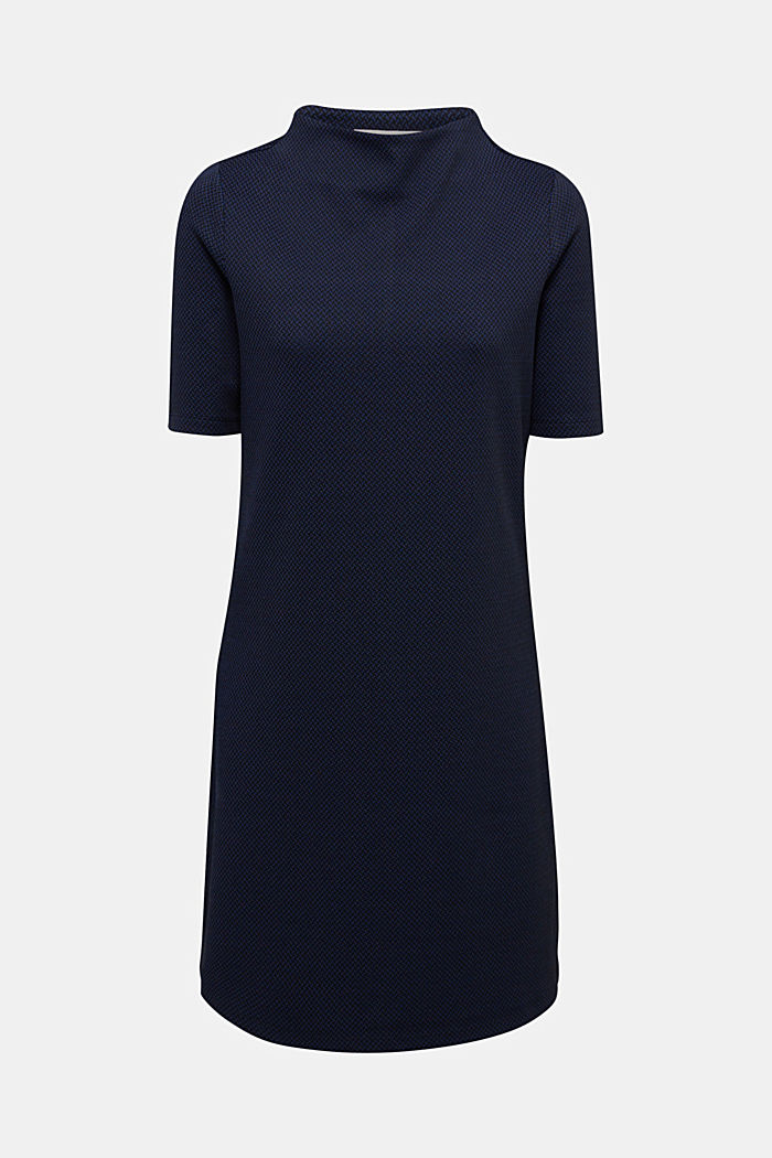 Patterned jersey dress, DARK BLUE, detail image number 6