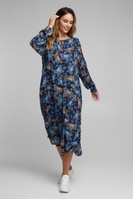 CURVY dress made of LENZING™ ECOVERO™, NAVY 4, detail