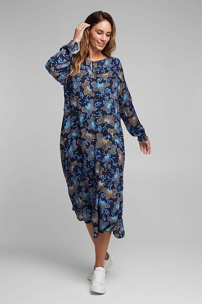 CURVY Kleid aus LENZING™ ECOVERO™, NAVY, detail image number 0