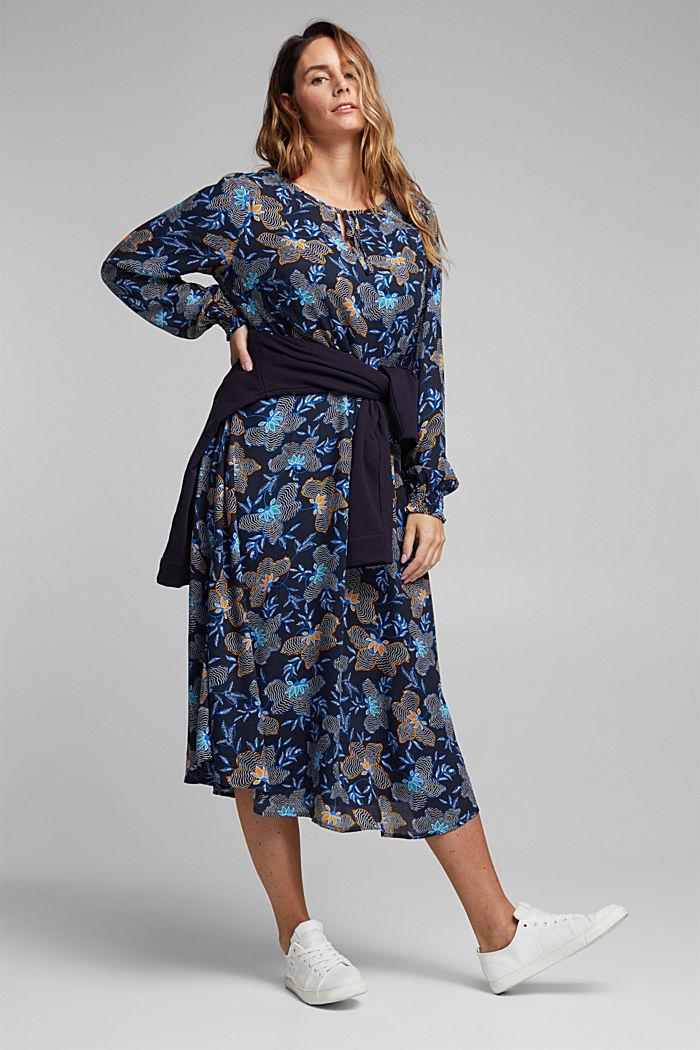 CURVY Kleid aus LENZING™ ECOVERO™, NAVY, detail image number 1