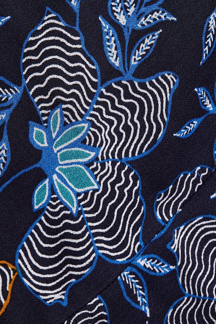 CURVY Kleid aus LENZING™ ECOVERO™, NAVY, detail image number 4