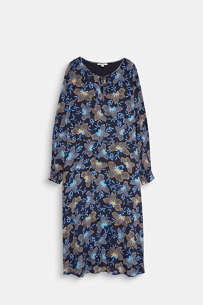 CURVY Kleid aus LENZING™ ECOVERO™, NAVY, detail image number 6