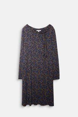 CURVY jersey dress, LENZING™ ECOVERO™, NAVY, detail