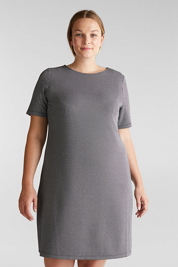 CURVY jersey dress with stretch for comfort, BLACK, detail image number 0