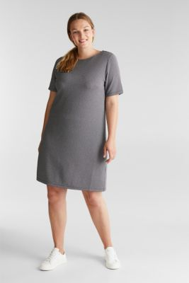 CURVY jersey dress with stretch for comfort, BLACK, detail