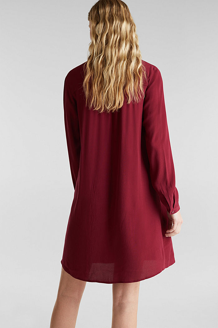 Shirt dress made of LENZING™ ECOVERO™, BORDEAUX RED, detail image number 2