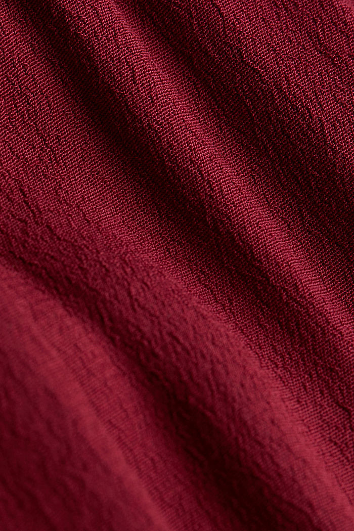 Shirt dress made of LENZING™ ECOVERO™, BORDEAUX RED, detail image number 4