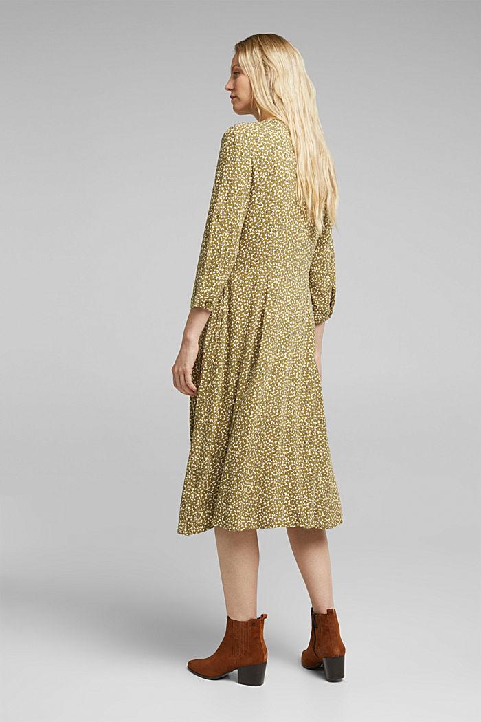 Mille-fleurs dress made of LENZING™ ECOVERO™, OLIVE, detail image number 2