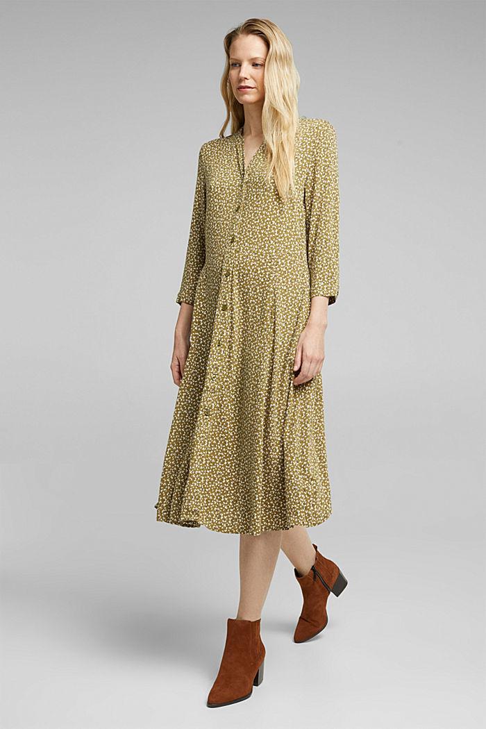 Mille-fleurs dress made of LENZING™ ECOVERO™, OLIVE, detail image number 1