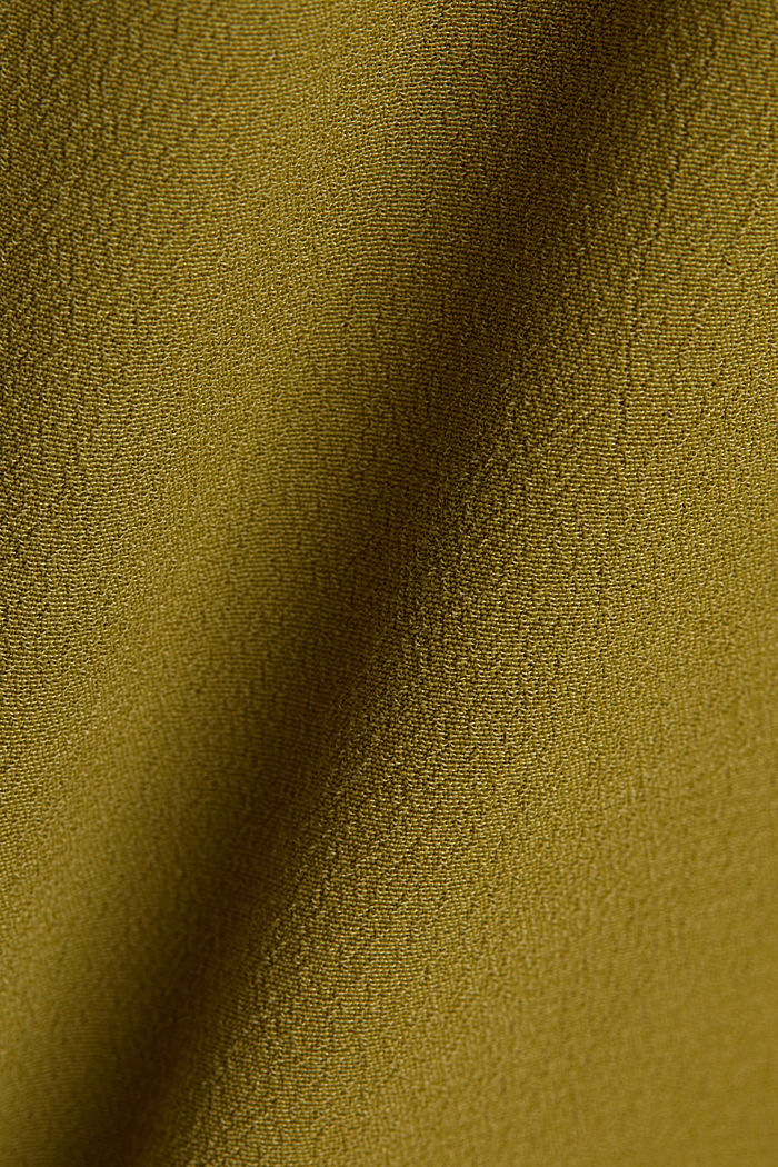 Blouse top made of LENZING™ ECOVERO™, OLIVE, detail image number 4