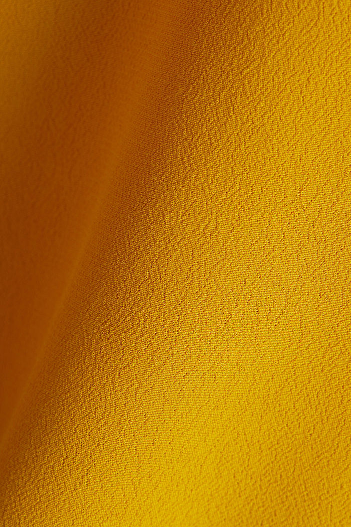 Blouse top made of LENZING™ ECOVERO™, BRASS YELLOW, detail image number 4