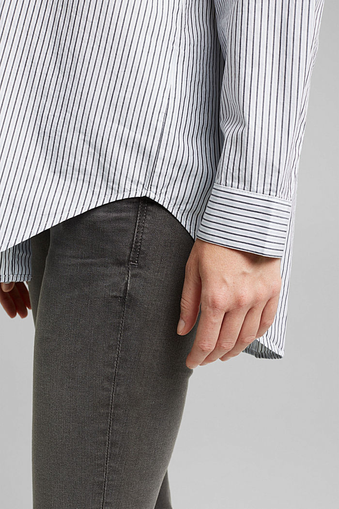 Striped blouse made of 100% organic cotton, LIGHT BLUE, detail image number 2