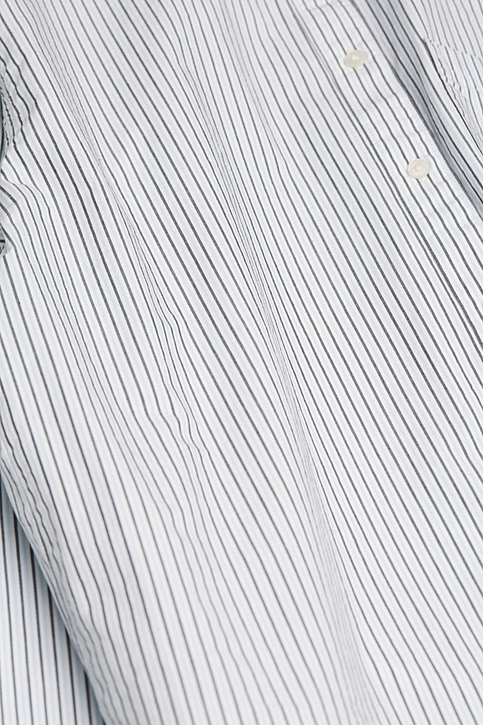 Striped blouse made of 100% organic cotton, LIGHT BLUE, detail image number 4