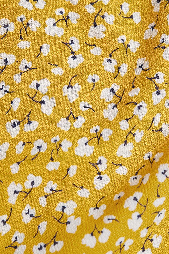 Blusen-Top aus LENZING™ ECOVERO™, BRASS YELLOW, detail image number 4