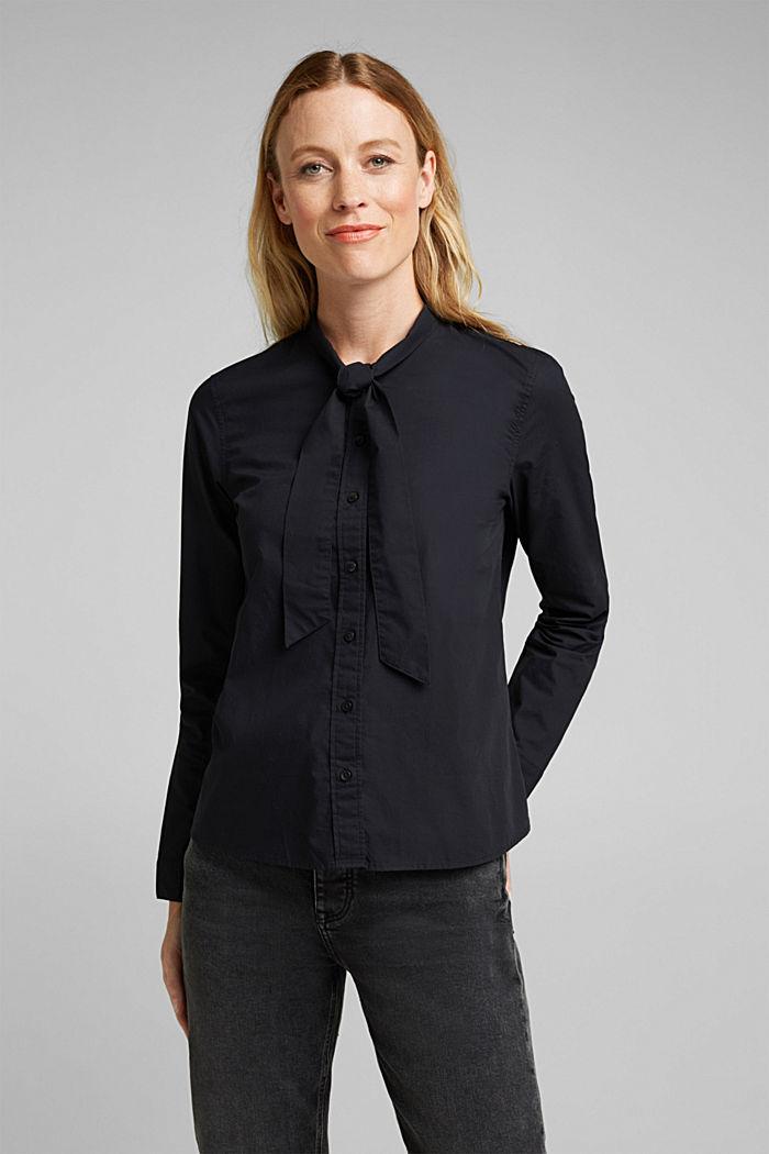 Blouse made of 100% organic cotton, BLACK, detail image number 0
