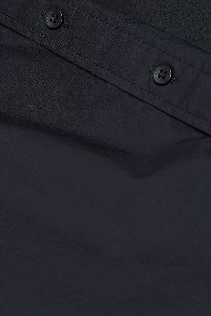Blouse made of 100% organic cotton, BLACK, detail image number 4
