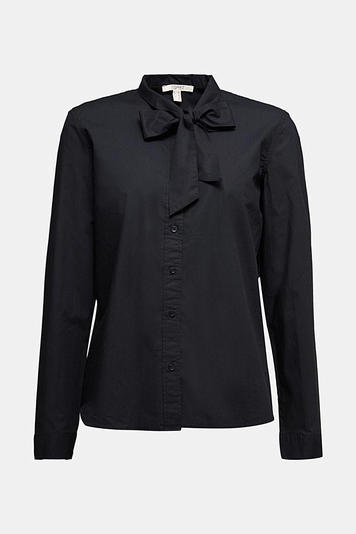 Blouse made of 100% organic cotton, BLACK, detail image number 6