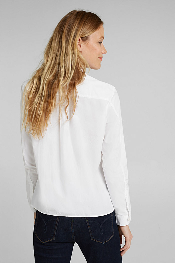 Blouse made of 100% organic cotton, WHITE, detail image number 3