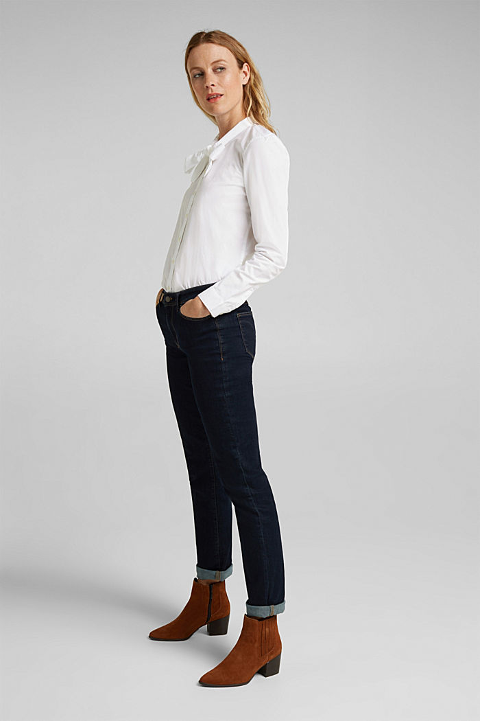 Bluse aus 100% Organic Cotton, WHITE, detail image number 1