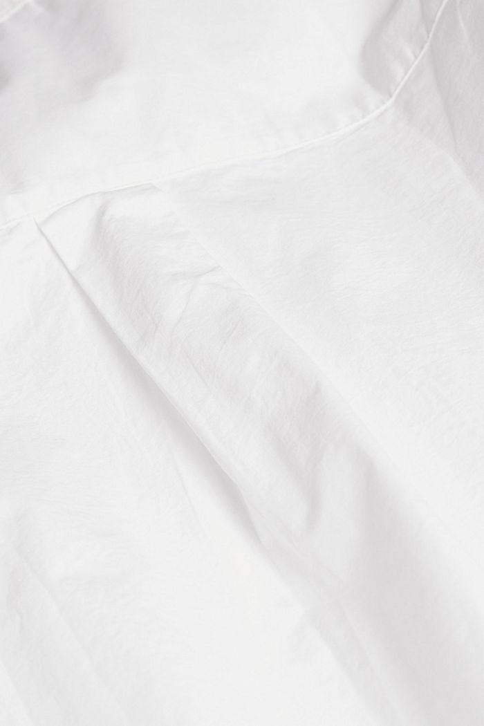 Bluse aus 100% Organic Cotton, WHITE, detail image number 4