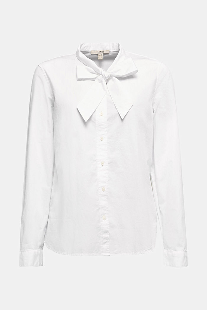 Bluse aus 100% Organic Cotton, WHITE, detail image number 6