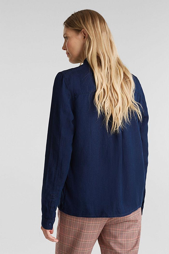 Lyocell blend blouse, BLUE DARK WASHED, detail image number 3
