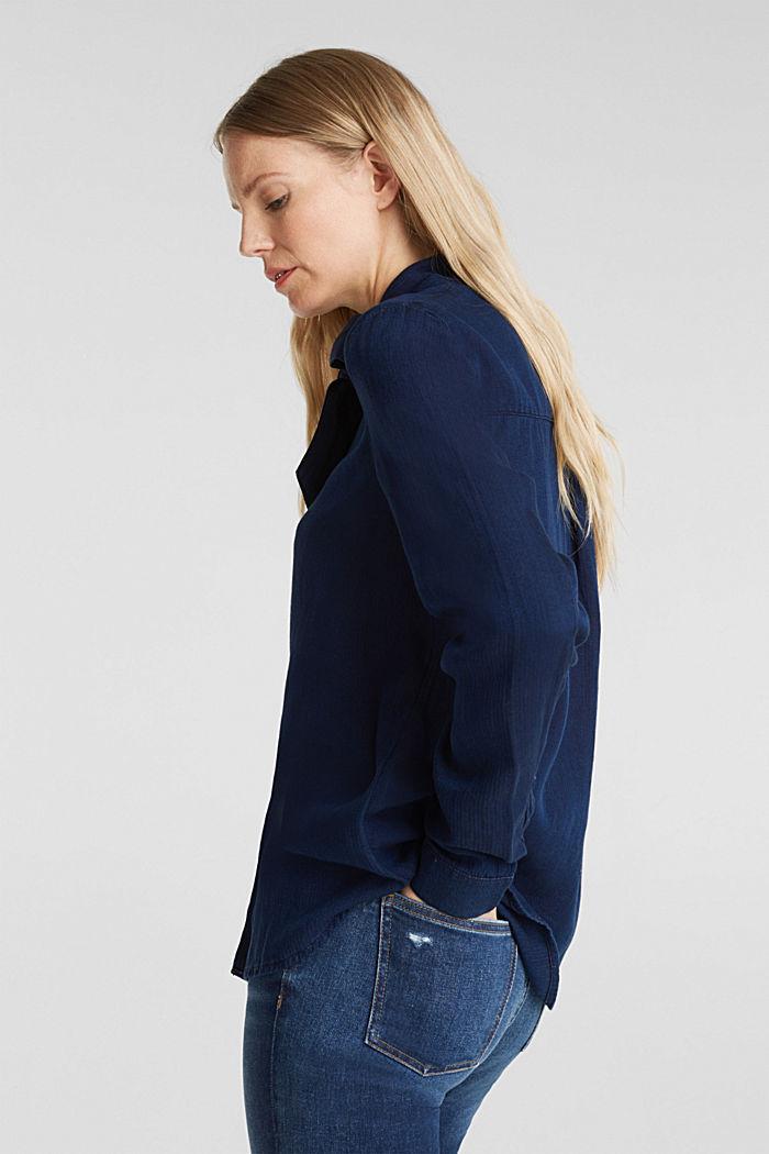 Lyocell blend blouse, BLUE DARK WASHED, detail image number 5